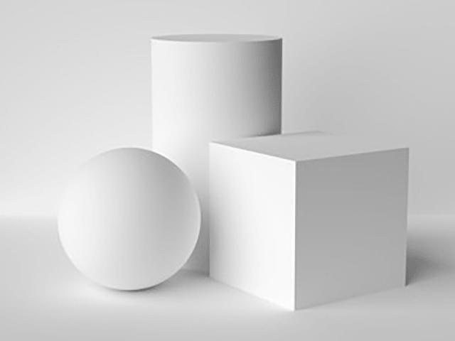 さまざまな角度からの見え方を考える(立体造形物)